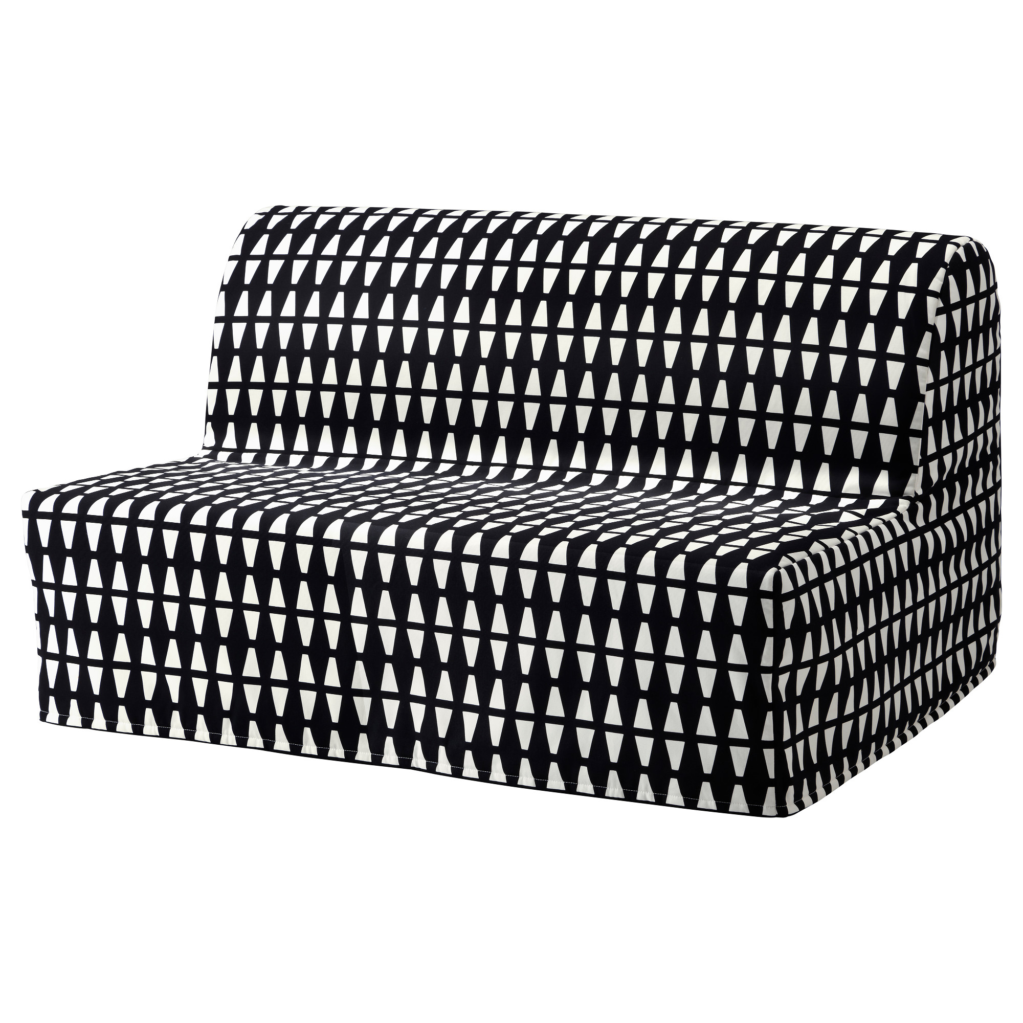 - LYCKSELE HÅVET - Two-seat Sofa-bed, Ebbarp Black/white IKEA Hong