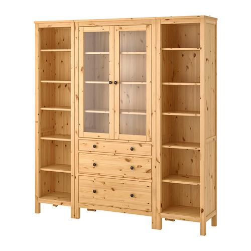 HEMNES - storage combination w doors/drawers, light brown/clear glass | IKEA Hong Kong and Macau - PE725024_S4