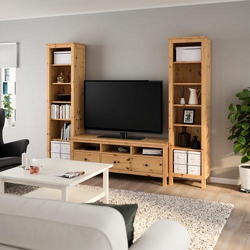 HEMNES - TV storage combination, light brown | IKEA Hong Kong and Macau - PE725040_S4