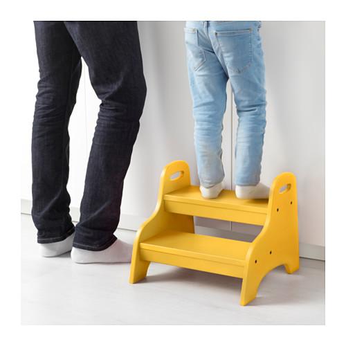 TROGEN - children's step stool, yellow   IKEA Hong Kong and Macau - PE633214_S4