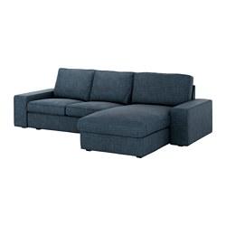 KIVIK - 3-seat sofa, with chaise longue/Hillared dark blue | IKEA Hong Kong and Macau - PE633254_S3