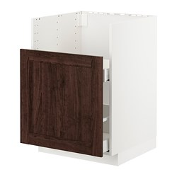 METOD/MAXIMERA - BREDSJÖN星盆用地櫃/1面板/2抽屜, white/Edserum brown | IKEA 香港及澳門 - PE725118_S3