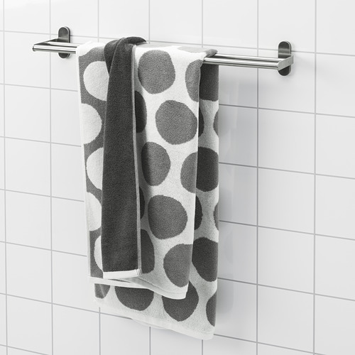 SJÖVALLA - 浴巾, 炭黑色/白色 | IKEA 香港及澳門 - PE769146_S4