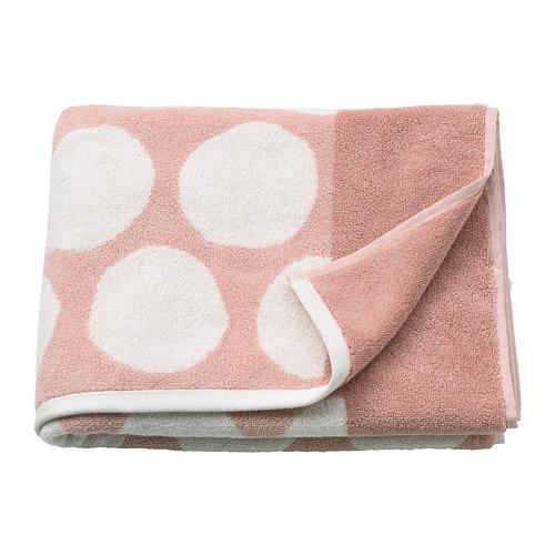 SJÖVALLA - 浴巾, 淺粉紅色/白色   IKEA 香港及澳門 - PE769149_S4