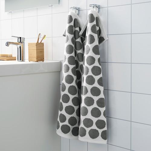 SJÖVALLA - 毛巾, 炭黑色/白色 | IKEA 香港及澳門 - PE769150_S4