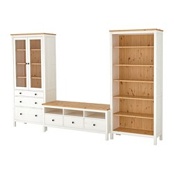 HEMNES - TV storage combination, white stain/light brown clear glass   IKEA Hong Kong and Macau - PE725267_S3