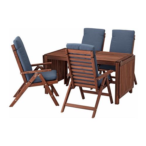 ÄPPLARÖ table+4 reclining chairs, outdoor