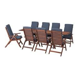 ÄPPLARÖ - 戶外檯連躺椅組合, 染褐色/Frösön/Duvholmen 藍色   IKEA 香港及澳門 - PE681372_S3