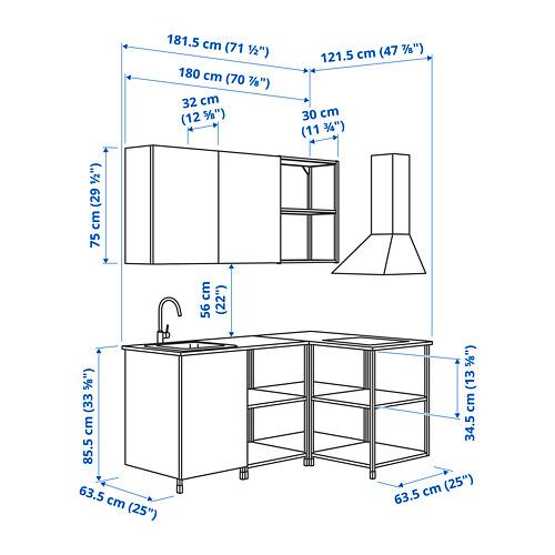ENHET - 角位廚房, 炭黑色/白色   IKEA 香港及澳門 - PE825130_S4