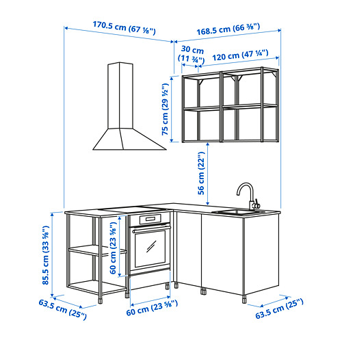 ENHET - corner kitchen, white   IKEA Hong Kong and Macau - PE825180_S4