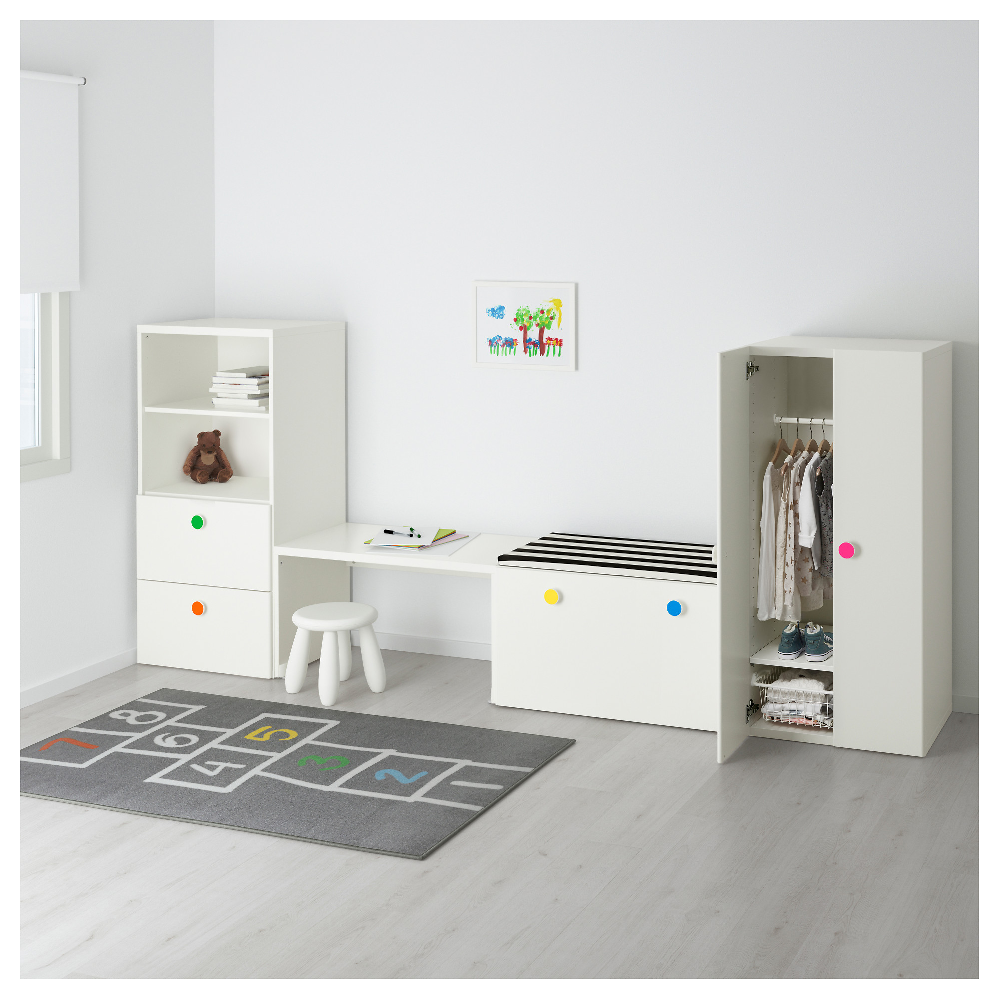 Surprising Stuva Folja Storage Combination With Bench White Ikea Gamerscity Chair Design For Home Gamerscityorg
