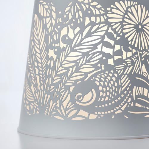 SOLSKUR - LED座檯燈, 白色/黃銅色   IKEA 香港及澳門 - PE769395_S4