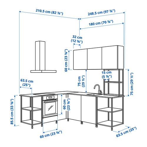 ENHET - 角位廚房, 白色/仿混凝土 白色   IKEA 香港及澳門 - PE825190_S4