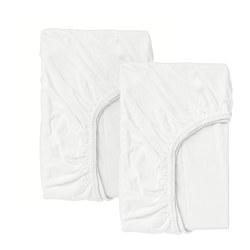 LEN - fitted sheet for cot, white | IKEA Hong Kong and Macau - PE681552_S3