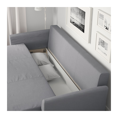 HOLMSUND - three-seat sofa-bed with storage, Nordvalla medium grey | IKEA Hong Kong and Macau - PE681593_S4
