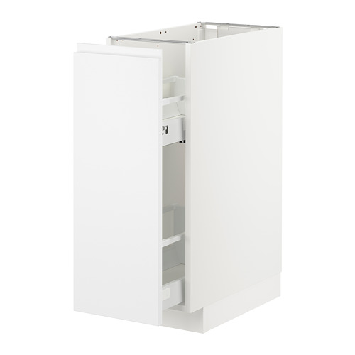 METOD - base cabinet/pull-out int fittings, white/Voxtorp matt white | IKEA Hong Kong and Macau - PE725396_S4