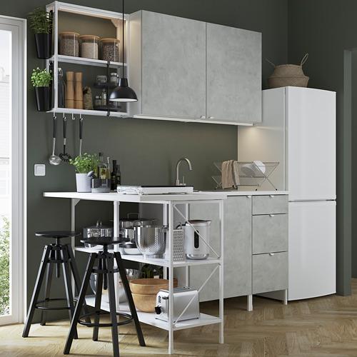 ENHET - 角位廚房, 白色/仿混凝土 | IKEA 香港及澳門 - PE782991_S4