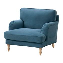 STOCKSUND - 扶手椅, Ljungen 藍色/淺褐色/木 | IKEA 香港及澳門 - PE575041_S3