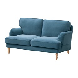 STOCKSUND - 2-seat sofa, Ljungen blue/light brown/wood | IKEA Hong Kong and Macau - PE575065_S3