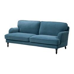 STOCKSUND - 三座位梳化, Ljungen 藍色/黑色/木 | IKEA 香港及澳門 - PE575076_S3