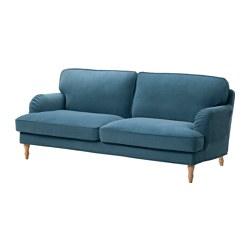STOCKSUND - 三座位梳化, Ljungen 藍色/淺褐色/木 | IKEA 香港及澳門 - PE575077_S3