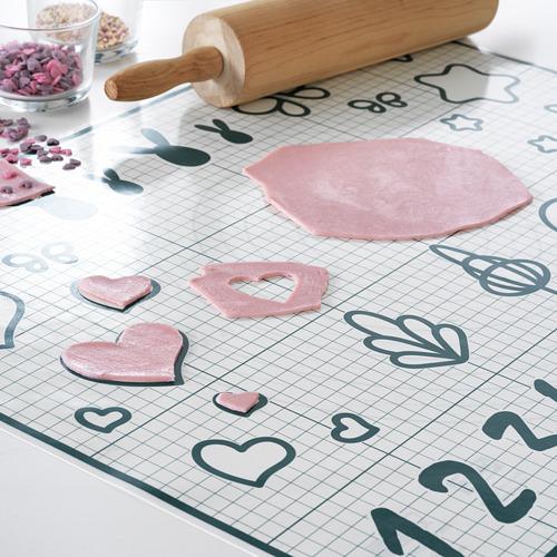 BAKTRADITION - baking mat, white/turquoise | IKEA Hong Kong and Macau - PE783041_S4