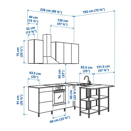 ENHET - 角位廚房, 白色/橡木紋 | IKEA 香港及澳門 - PE825261_S4