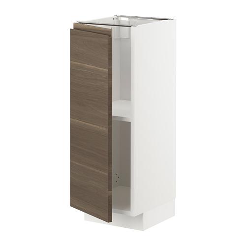 METOD - base cabinet with shelves, white/Voxtorp walnut effect   IKEA Hong Kong and Macau - PE725470_S4