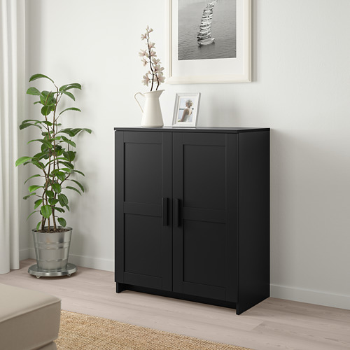 BRIMNES - cabinet with doors, black | IKEA Hong Kong and Macau - PE725488_S4