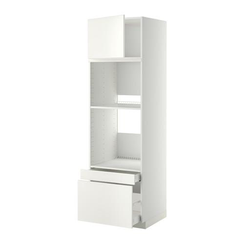 METOD/MAXIMERA - hi cab f ov/combi ov w dr/2 drwrs, white/Veddinge white   IKEA Hong Kong and Macau - PE358947_S4