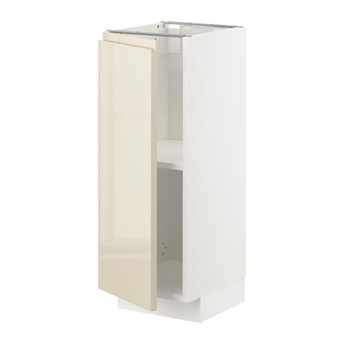 METOD - base cabinet with shelves, white/Voxtorp high-gloss light beige | IKEA Hong Kong and Macau - PE725520_S4