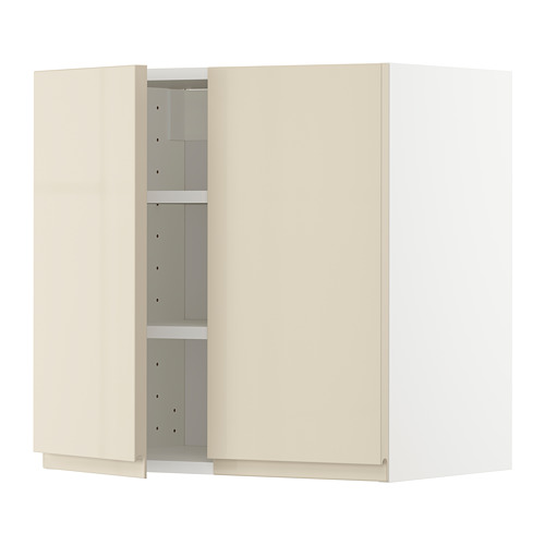 METOD wall cabinet with shelves/2 doors