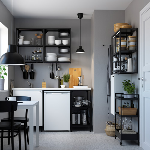ENHET - 上牆式貯物架組合, anthracite/white | IKEA 香港及澳門 - PE783105_S4