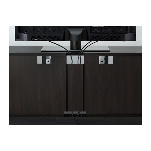 BESTÅ - TV storage combination/glass doors, black-brown/Selsviken high-gloss/brown clear glass | IKEA Hong Kong and Macau - PE566708_S4