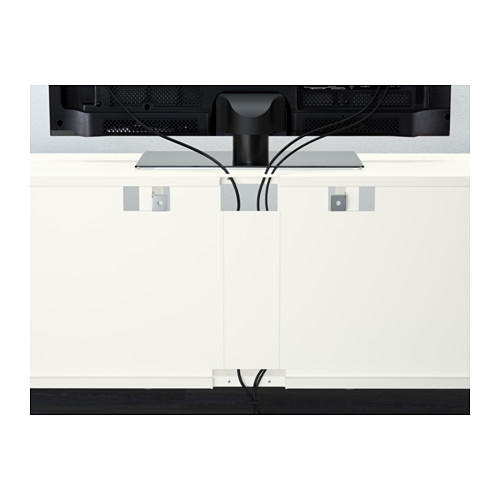 BESTÅ - TV storage combination/glass doors, white/Selsviken high-gloss/beige clear glass | IKEA Hong Kong and Macau - PE566736_S4