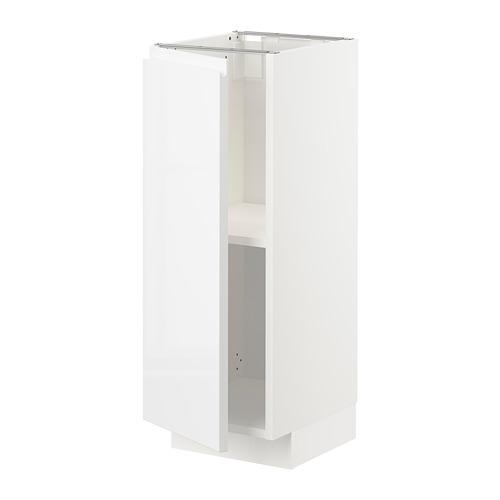 METOD - base cabinet with shelves, white/Voxtorp high-gloss/white | IKEA Hong Kong and Macau - PE725558_S4