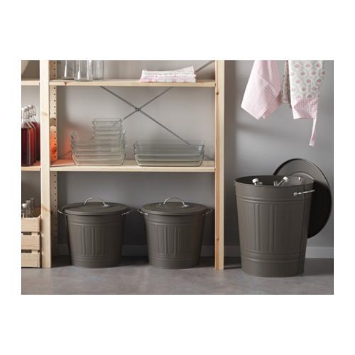 KNODD - bin with lid, grey | IKEA Hong Kong and Macau - PE566777_S4