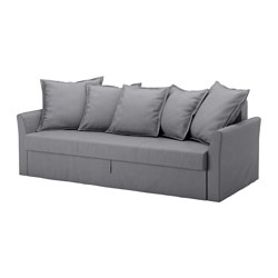 HOLMSUND - three-seat sofa-bed with storage, Nordvalla medium grey | IKEA Hong Kong and Macau - PE577547_S3