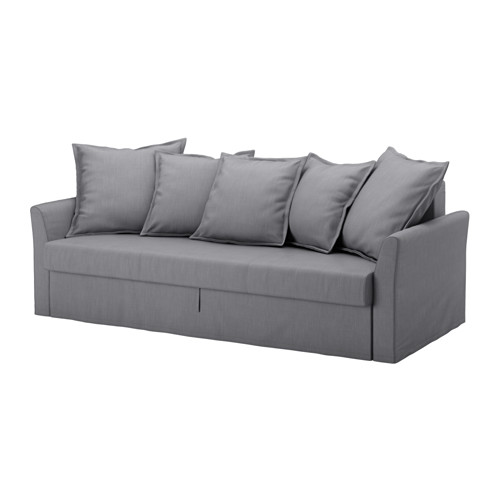 HOLMSUND - three-seat sofa-bed with storage, Nordvalla medium grey | IKEA Hong Kong and Macau - PE577547_S4