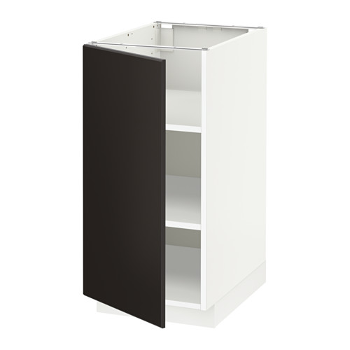 METOD - base cabinet with shelves, white/Kungsbacka anthracite | IKEA Hong Kong and Macau - PE633930_S4