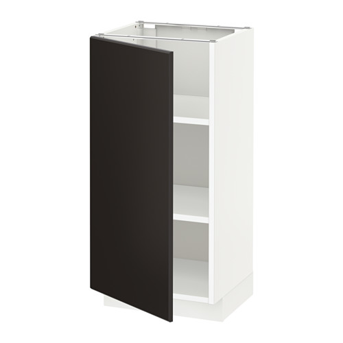 METOD - base cabinet with shelves, white/Kungsbacka anthracite | IKEA Hong Kong and Macau - PE633939_S4