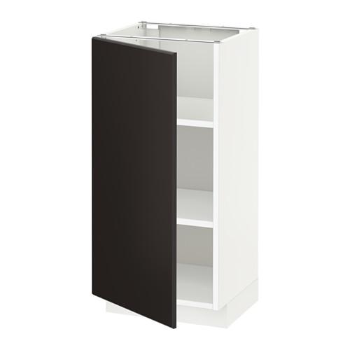 METOD - 地櫃連層板, 白色/Kungsbacka 炭黑色 | IKEA 香港及澳門 - PE633939_S4
