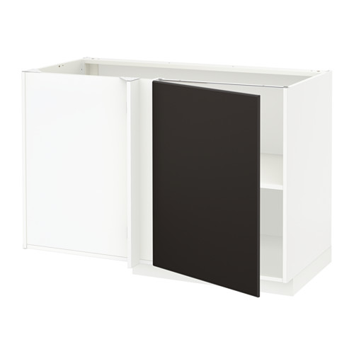 METOD - corner base cabinet with shelf, white/Kungsbacka anthracite | IKEA Hong Kong and Macau - PE633938_S4