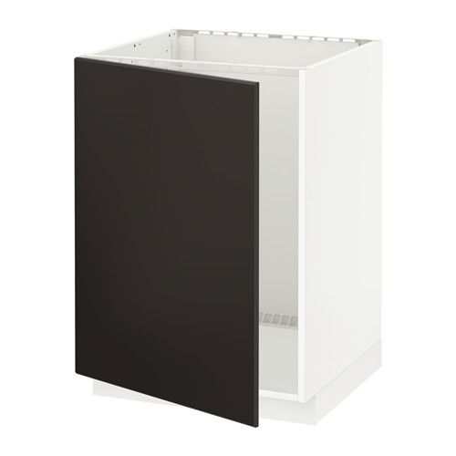 METOD - base cabinet for sink, white/Kungsbacka anthracite | IKEA Hong Kong and Macau - PE633944_S4