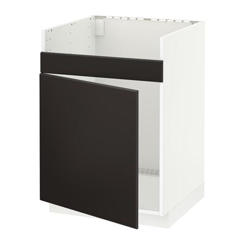 METOD - base cab f HAVSEN single bowl sink, white/Kungsbacka anthracite | IKEA Hong Kong and Macau - PE633946_S4