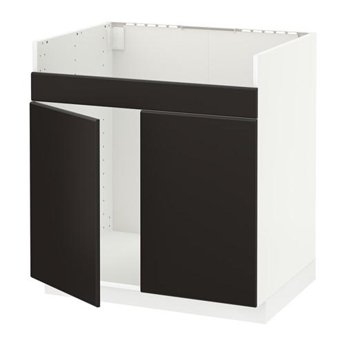 METOD - base cab f HAVSEN double bowl sink, white/Kungsbacka anthracite | IKEA Hong Kong and Macau - PE633934_S4