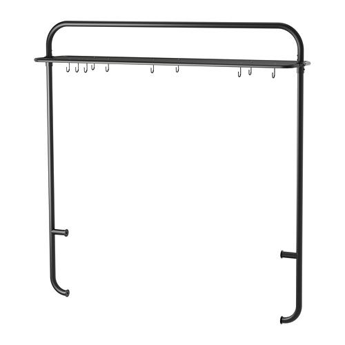 VADHOLMA - rack for kitchen island, black   IKEA Hong Kong and Macau - PE681763_S4