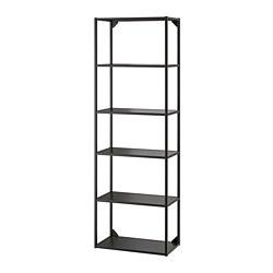 ENHET - 高櫃框架連層板, 炭黑色 | IKEA 香港及澳門 - PE769583_S3