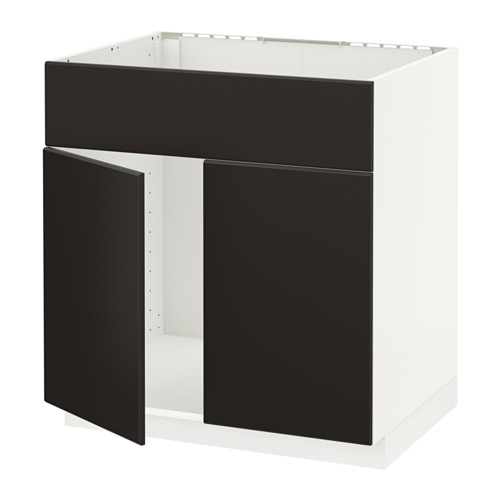 METOD 星盆用地櫃連2門/面板