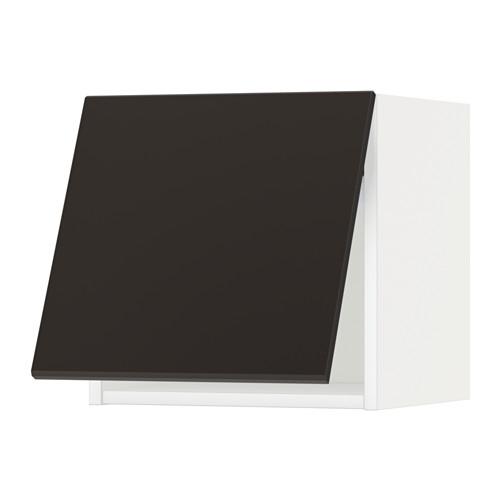 METOD - wall cabinet horizontal w push-open, white/Kungsbacka anthracite | IKEA Hong Kong and Macau - PE633995_S4